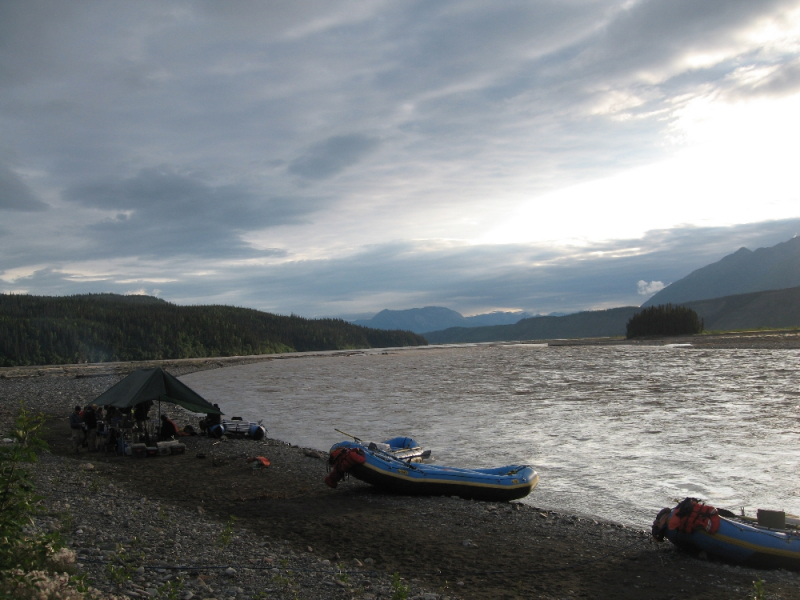 Rafting on the Chitina River