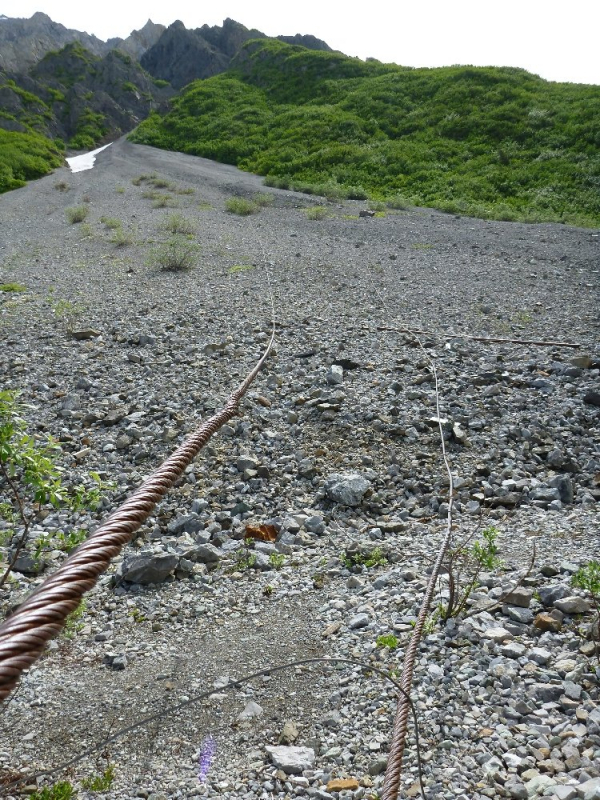 Steep gully to erie mine