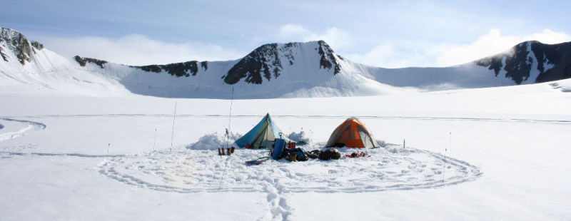 Glacier camp in Alaska