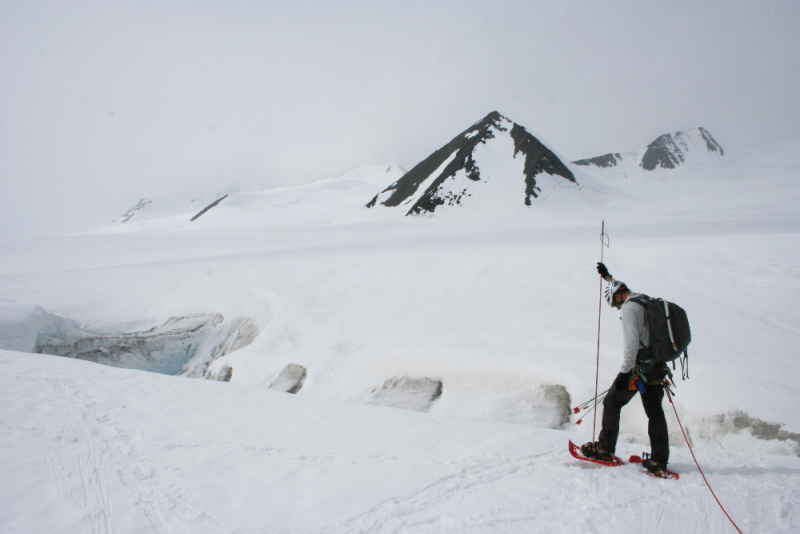 Probing for crevasses in Alaska