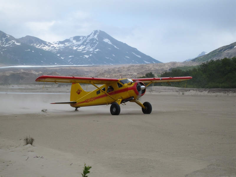 Beaver Airplane at Fan Glacier