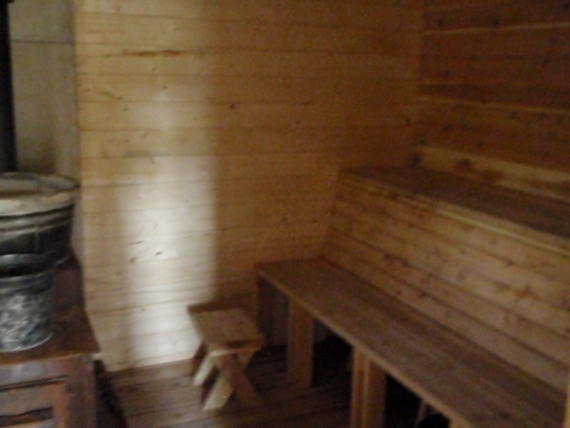 Our wood-fired sauna