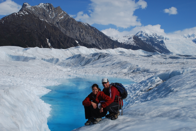 Happy Alaska Glacier Hikers