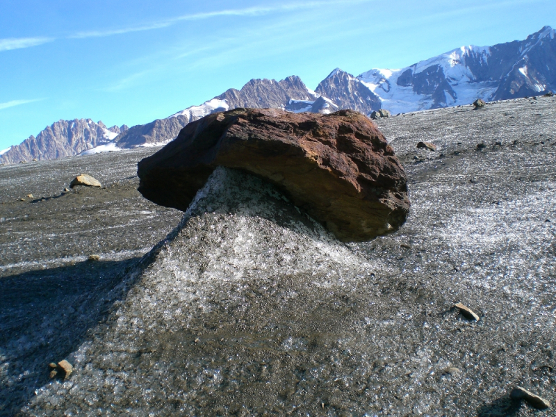Rock feature on Root Glacier