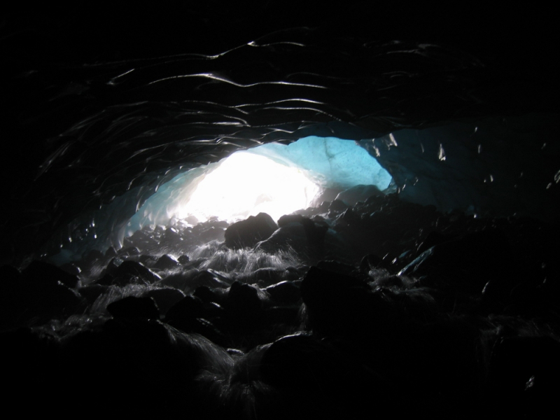Looking out of Ice Cave