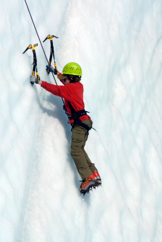 Glacier Ice Climbing Kid