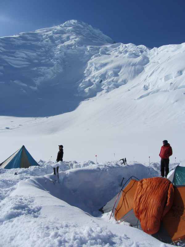 9,000 ft camp on Mt Blackburn Alaska