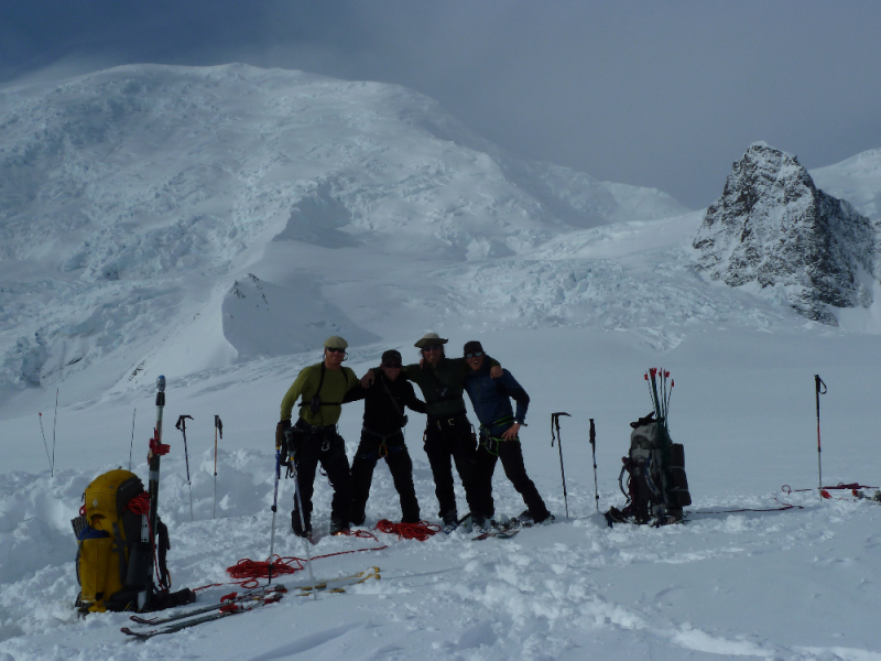 Climbers at base camp on Mt Blackburn