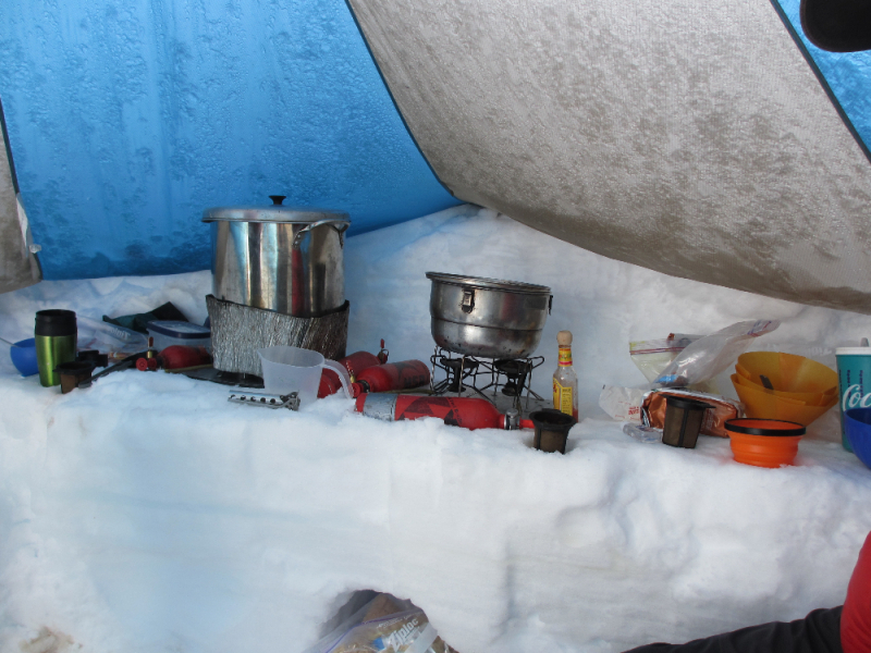 Mountaineering camp kitchen