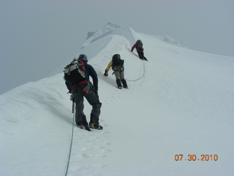 Climbers on Mt Drum