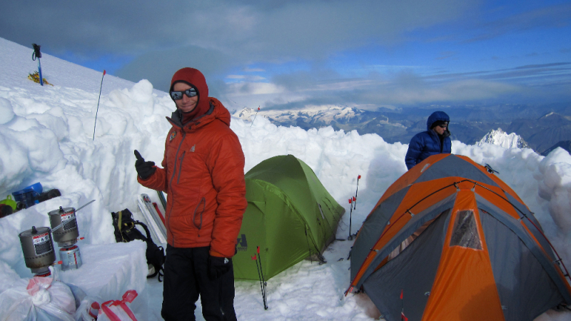 High camp on Mt Drum