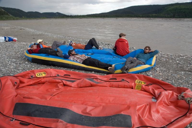 deflate rafts before flightsee