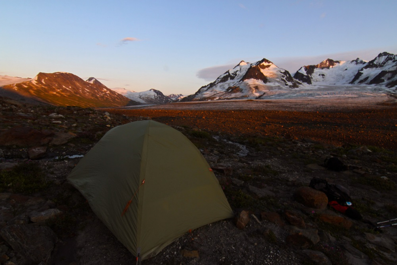 Alaska backcountry camp site