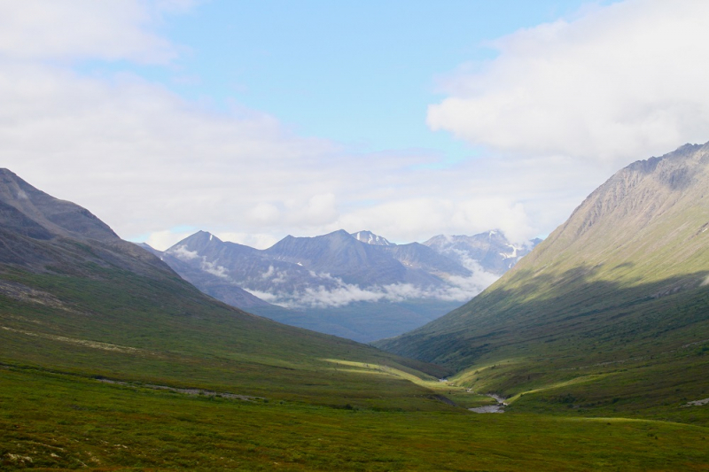 Alaska backpacking valley