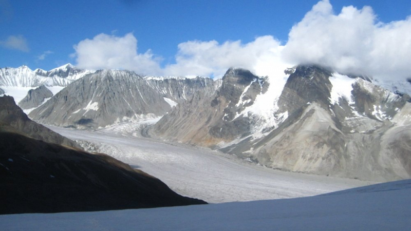 Views down on Frederika Glacier