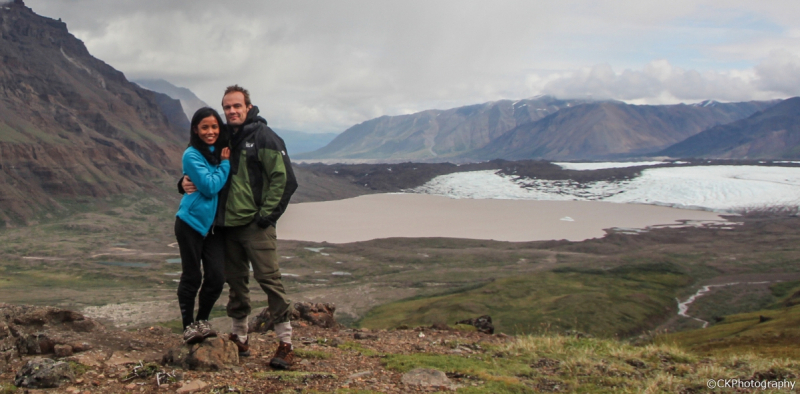 Couple at Russell Glacier