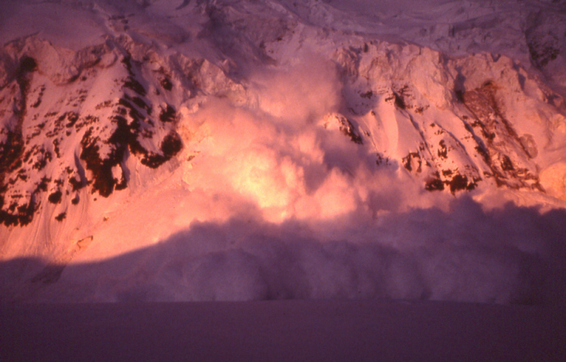 Avalanche on Mt St Elias