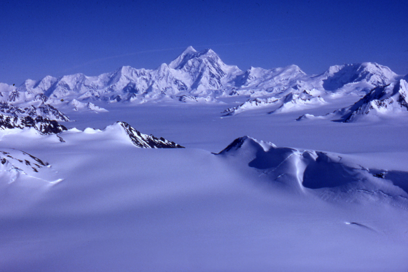 Mt St Elias from the Bagley Icefield