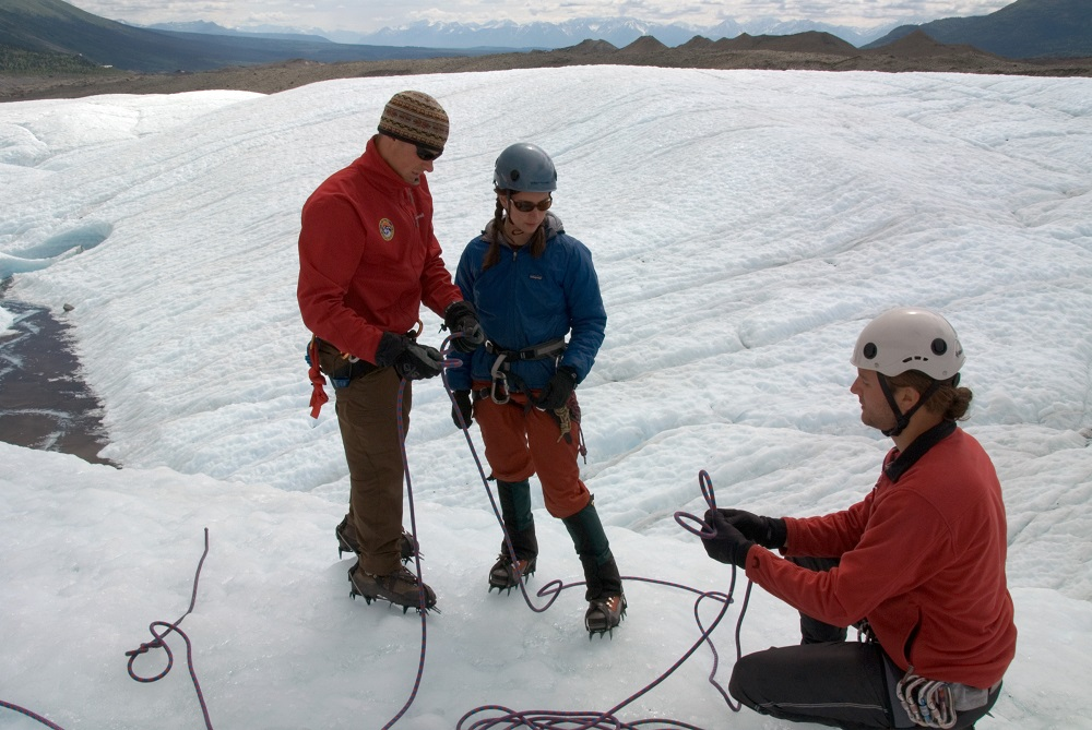 alaska guide teaching rope skills