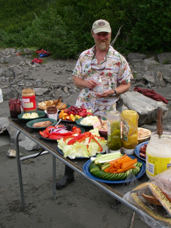 Alaska rafting lunch