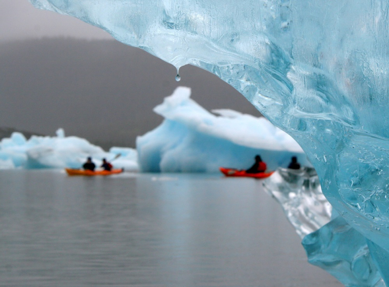 Kayaking Among Icebergs