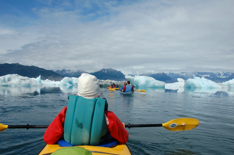 Sea Kayaking Columbia Glacier