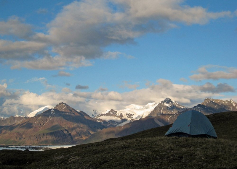 Camping at skolai pass