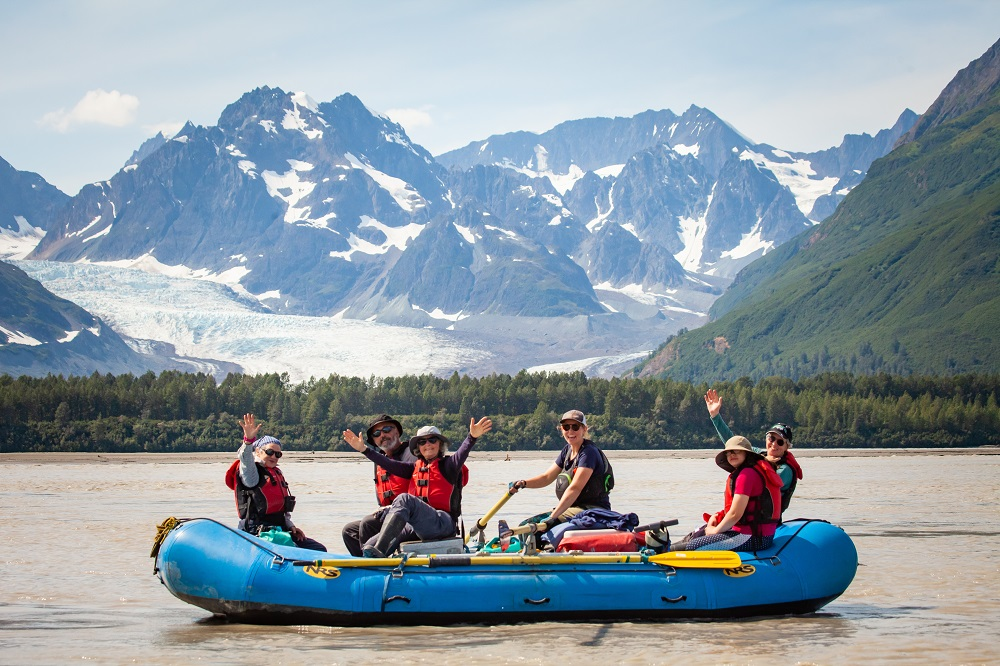 rafting with glaciers