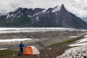 backpacking by glacier