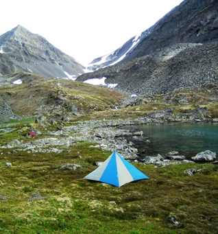 Alaska base camp hiking