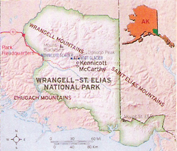 Wrangell St. Elias National Park Map