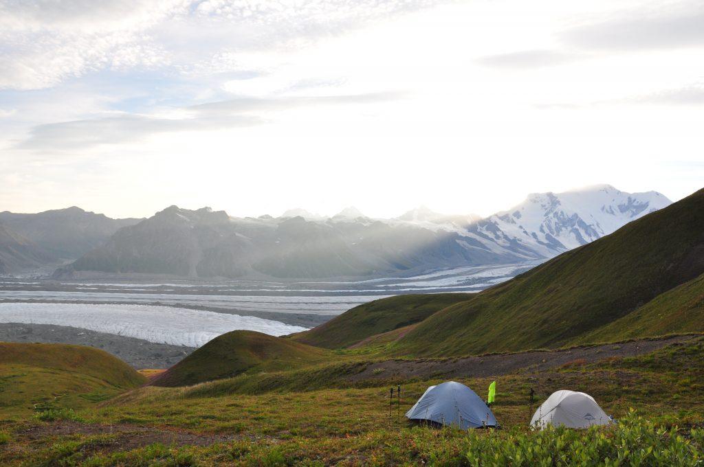alaska glacier camping