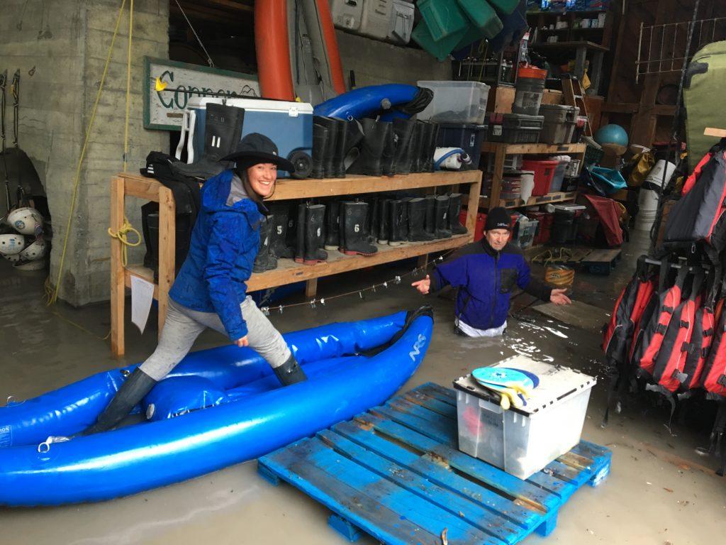 kayaking flood