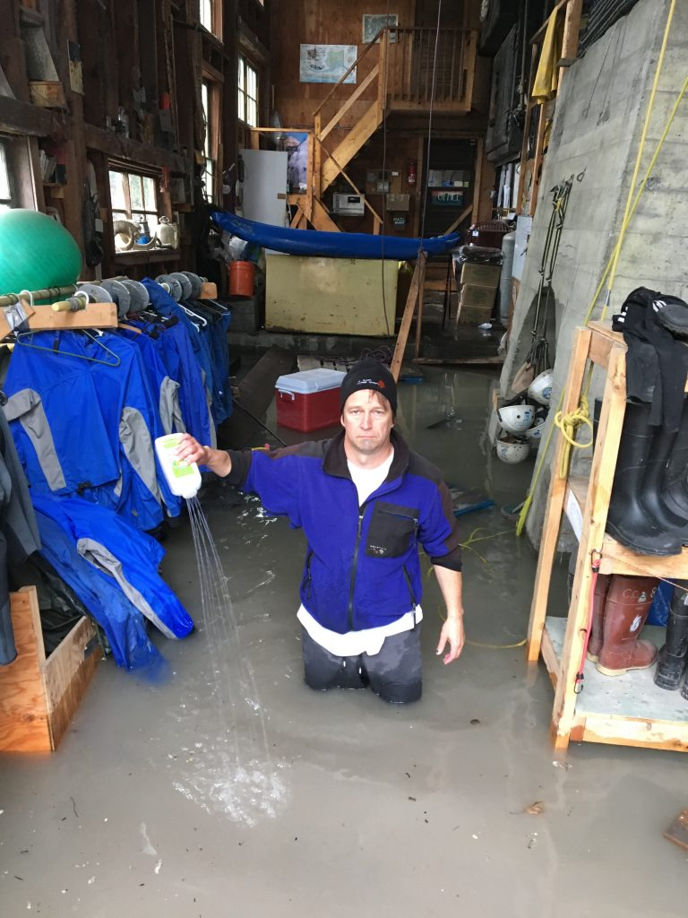 alaska flooded building