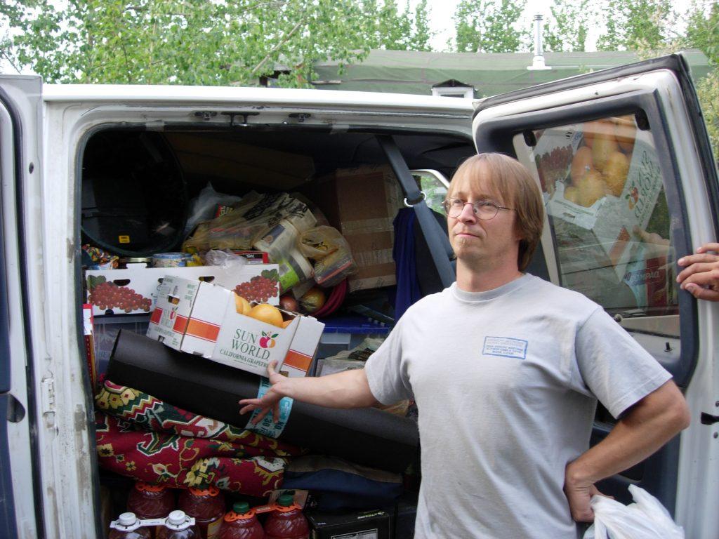 van full of food