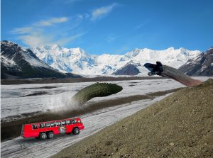 glacier ice worms and vehicle